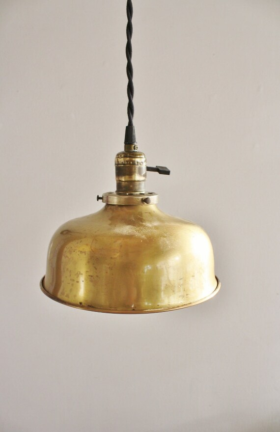 antique brass pendant light fixture
