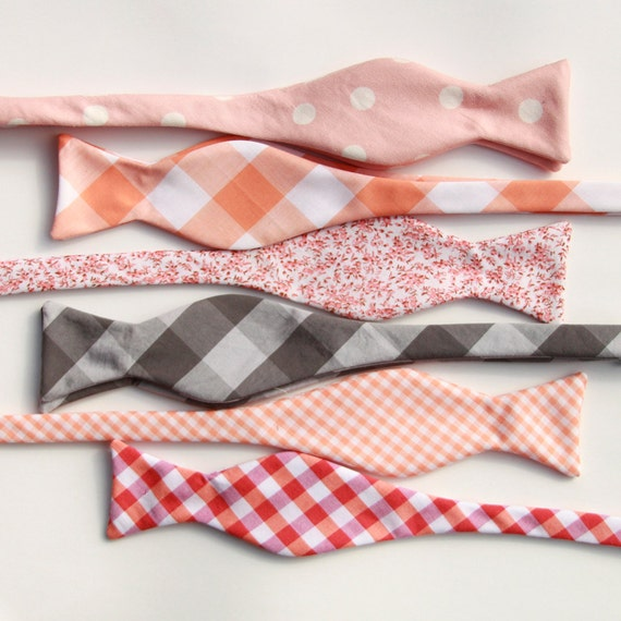 wedding party bow ties- custom order for Alex