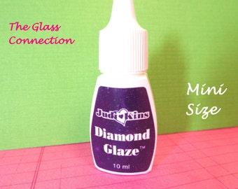1 Diamond Glaze Glue 10ml  Mini Bottle Judikins Adhesive Travel Size Glass Tile Dries Like Glass