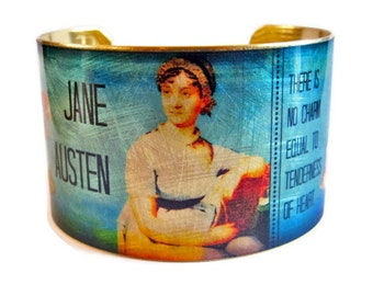 Jane Austen Emma quote cuff bracelet brass or stainless steel Gifts for her