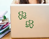 Shamrock Decals, Laptop Vinyl Decal, Set of Two, Irish Decor, Car Window Decal , Vinyl Sticker, Gift for her, Gift for Him, st pattys day
