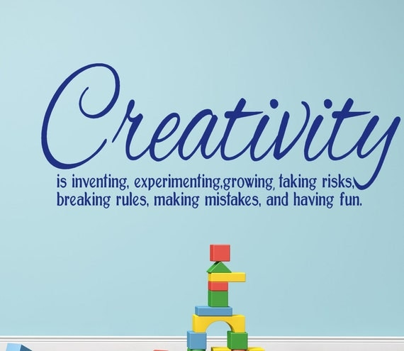 Items Similar To Creativity Vinyl Wall Decal Words