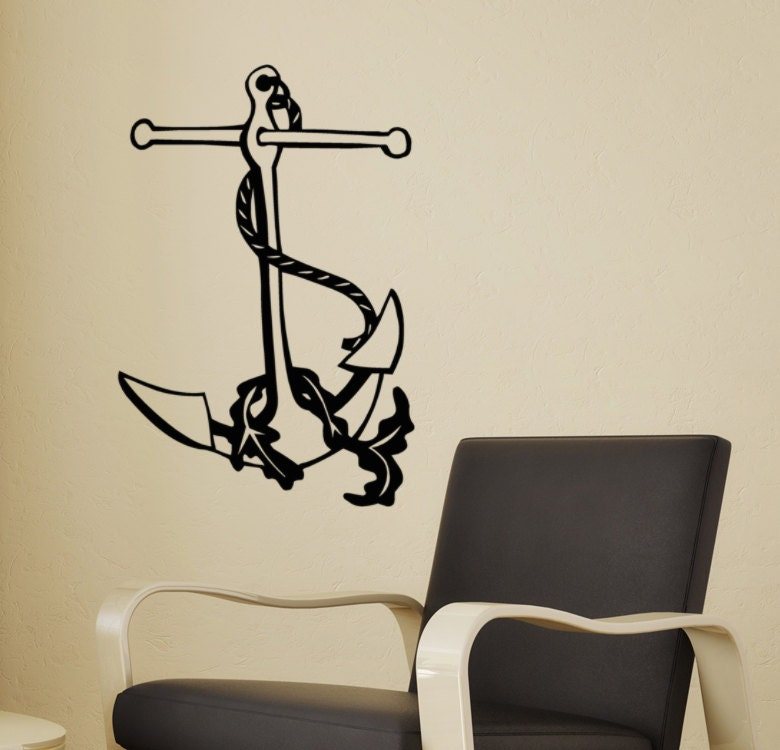 Wall Decor For Lake House : Anchor wall decal lake house decor beach by