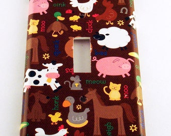 Wall Decor Light Switch Cover  Switchplate   Single Switch Plate in  Barnyard (169S)