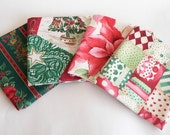 Set of 4 Fat Quarters Christmas fabric