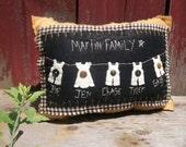 Hanging Around Customized Family Pillow