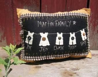 Hanging Around Customized Family Pillow