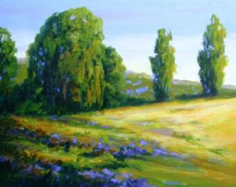 Oil Painting Landscape MEANDERING 18x24 Original