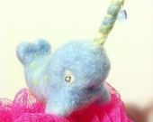 Narwhal cutie - needle felted little charmer