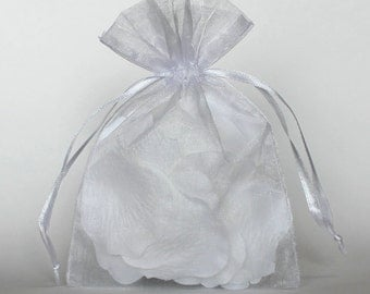 12 Pack Sheer Organza Drawstring Bags  2.75 X 4 Inch Size Great For Gifts, Favors, Sachets, Weddings