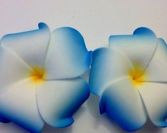 Blue plumeria, Plumeria, Plumeria clip, Tropical flower, Flower, Hair flower, Flower clip, Ready to ship