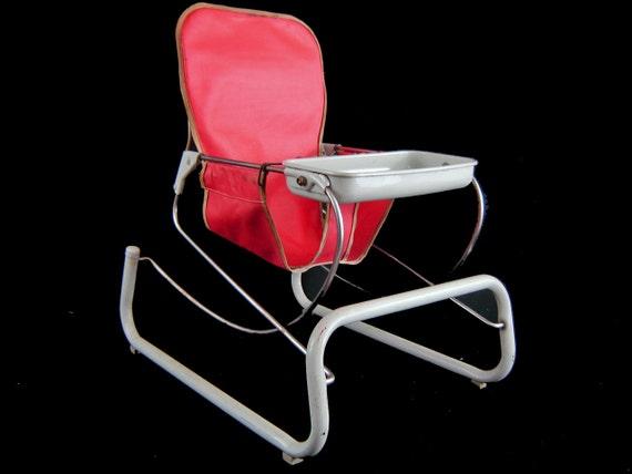 Vintage 50 s Cosco Metal Baby Bouncer Chair Original