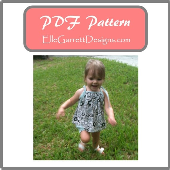 Tie neck Top and Pantaloons - PDF Pattern