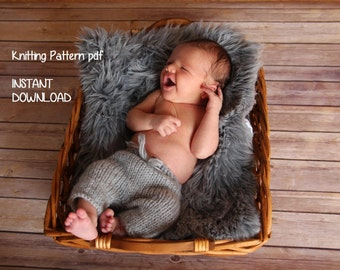 Newborn Pants (3 lengths) & Kitten Hat Knitting Pattern, PDF 145, INSTANT DOWNLOAD -- Over 20,000 patterns sold -- Permission to Sell