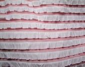 Destash Sale Pink and White Cascading Ruffle Fabric