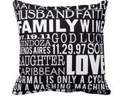 Custom Designed Large Pillow Unique Gift Idea Personalized text 16X16