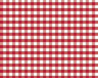 Riley Blake Designs, Medium Gingham in Red (C450 80)
