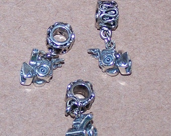 Sterling 3D SNOW BLOWER Bead Charm for  all Name Brand Add a Bead Bracelets