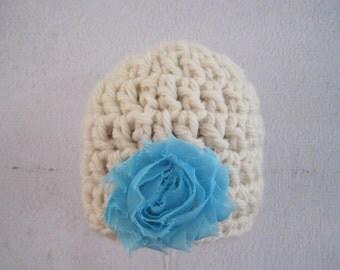 Crochet Baby Hat, Crochet Newborn Hat, Crochet Infant Hat, Baby Girl Hat, Infant Girl Hat, Newborn Girl Hat, Baby Girl Beanie, Blue