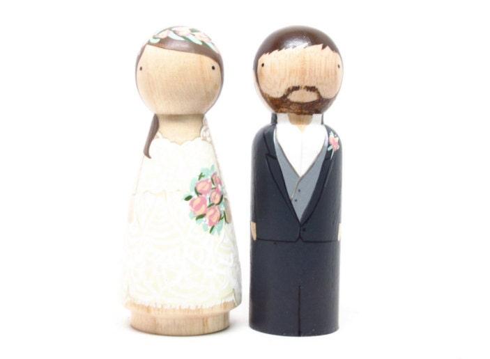 Peg Doll Wedding Cake Toppers Uk