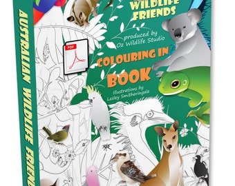 Colouring Book for Children PDF- Australian Animals - Colour Me Animals - Coloring Pages for Kids - Gifts for Kids - Gifts for Teachers