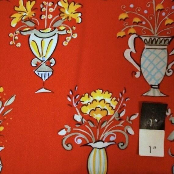 Dena designs df82 tea garden chai red cotton fabric 1 yd for Dena designs tea garden fabric