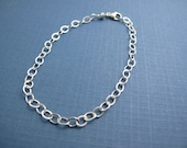 7 inch charm bracelet personalized adjustable sterling silver cable chain