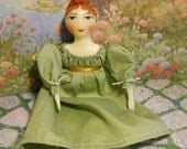 Customized 6 inch Primitive Folk Art Doll - Top Curl Cluster