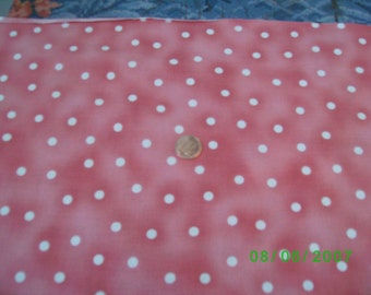 Vintage Cotton  White Dots on Marble Pink