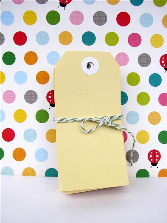 Vanilla Cream Shipping Tags Large - Pk 50