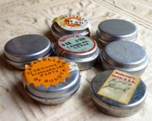 7 Small Vintage Watch Parts Tins