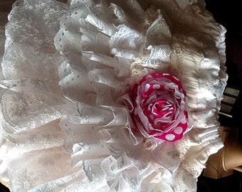 Flower Girl Wedding,  Easter SundayWhite, Ivory ruffled vintage lace/eyelet skirt  The Rose by Rosanna Hope for Babybonbons