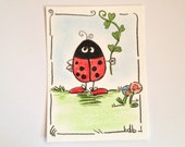A Flower for you -  Original Miniature Aceo by bdbworld on Etsy