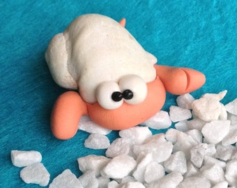 Hermit Crab - Paguro Bernardo (No47) - A Little Polymer Clay Creation