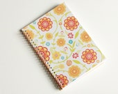Large Coupon Organizer with 14 Pockets - Pre Printed Labels Included - Citrus Flowers