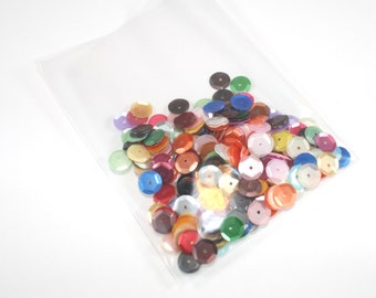 CLEARANCE  Sequins - 8mm Slightly Cupped Satin Mixed Colors