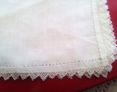 Vintage White Hankie with Lace