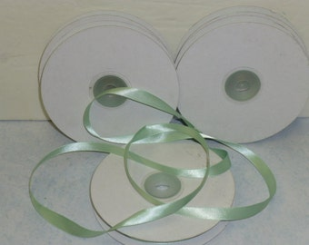 MINT GREEN SATIN ribbon / wedding decor / ribbon for wedding / shabby chic wedding decor / satin ribbon 25 yards / wedding satin ribbon deco