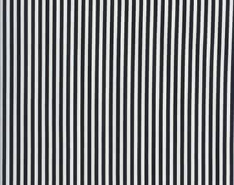 "1/8"" BLACK & WHITE STRIPE Cotton Quilt Fabric - by the Fat Quarter"