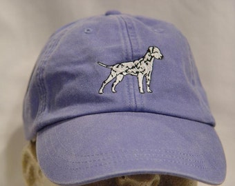 DALMATIAN DOG Hat - One Embroidered Men Women Cap - Price Embroidery Apparel - 24 Color Caps Available