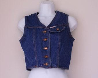 Vintage denim vest size small