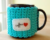Customizable Mug Cozy - Crocheted Tea Cup Cosy - Made to Order