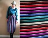 Ellen Tracy Rainbow Stripe Silk Skirt