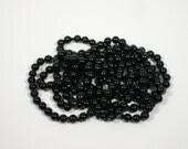 Purse Notions Purse Supplies Beaded Handles Strand of Black Beads Purse Supplies Shoulder Straps Wristlet Straps Black Purse Handles