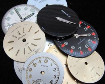 Vintage Antique Watch Dials Steampunk  Faces Parts F 44