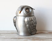Rare Italian Metal Owl Ice Bucket