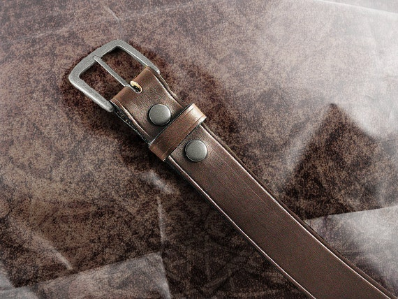 """Leather Belt - The Italian Brown - 1.5"""""""