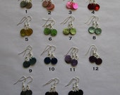 Tiny Dangle Shell Earrings Bright & Simple Your Choice of Colors 2 Pair for 5