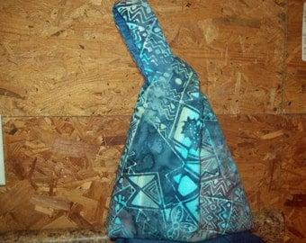 Abstract batik knot bag wristlet