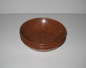 Vintage Kys-Ite Brown Melmac Melamine Soup or Salad Bowls Set of Four No. 232